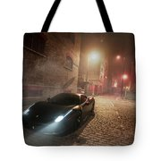 A Foggy Evening In London Tote Bag