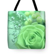 A Gift Of Preservrd Flower And Clay Flower Arrangement, White An Tote Bag