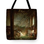 A Hermit Praying In The Ruins Of A Roman Temple Tote Bag