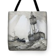 A Lightship's Xmas Dinner Tote Bag