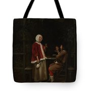A Woman And Two Men In An Arbor Tote Bag