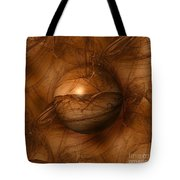 Abstract Brown Globe Tote Bag