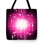 Abstract Circuit Board Lighting Effect  Tote Bag