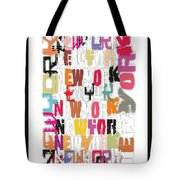 Abstract Wall Design Tote Bag