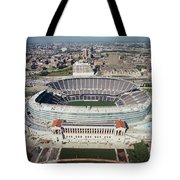 Aerial View Of A Stadium, Soldier Tote Bag