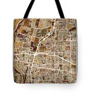 Albuquerque New Mexico City Street Map Tote Bag