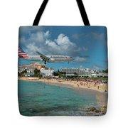 American Airlines At St. Maarten Tote Bag