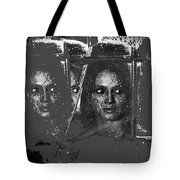 Angie Dickinson At Window Rain Collage Young Billy Young Set Old Tucson Arizona 1968-2013 Tote Bag