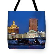 Atlantic City Skyline Tote Bag