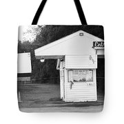 Auburn, Ny - Drive-in Theater Bw Tote Bag