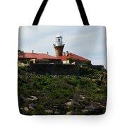 Australia - Barrenjoey Lighthouse On Solid Rock Tote Bag