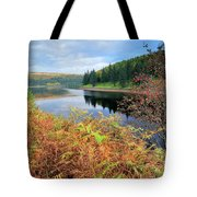 Autumn Derwent Reservoir Derbyshire Peak District Tote Bag
