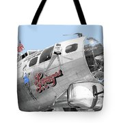 B-17g Flying Fortress Sentimental Journey 2 Avra Valley Arizona 1991 Color Added 2008 Tote Bag