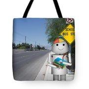 Back To School Little Robox9 Tote Bag
