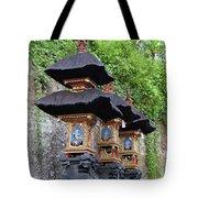 3 Bali Shrines Tote Bag