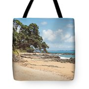 Beach In New Zealand Tote Bag