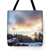 Beautiful Sunrise Over Horizon On Snowshoe Mountain West Virgini Tote Bag