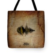 Believe Recorded Soundwave Collection Tote Bag