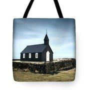 Black Church Of Budir, Iceland Tote Bag