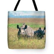 Black Rhinocerous Tote Bag