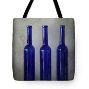 3 Blue Bottles Tote Bag