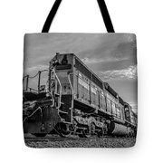 Blue Freight Train Engine At Sunrise  Tote Bag