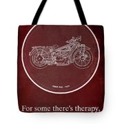 Bmw R32 1923 - For Some There's Therapy, For The Rest Of Us There's Motorcycles Tote Bag