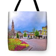Bolzano Main Square Waltherplatz Panoramic View Tote Bag