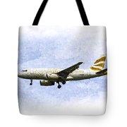 British Airways A319 Feather Design Art Tote Bag