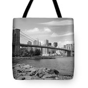 Brooklyn Bridge - New York City Skyline Tote Bag