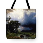 Buffalo Trail  The Impending Storm Tote Bag