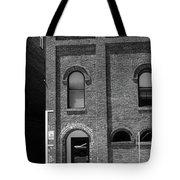 Burlington North Carolina - Arches And Alley Bw Tote Bag