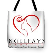 Red And White Angelfayss Tote Bag