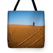 Tracks In The Sahara Tote Bag