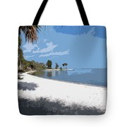Castaway Point On The Indian River Lagoon With Coquina Rock Tote Bag