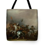 Cavalry Attacked By Infantry Tote Bag