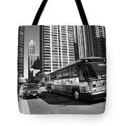 Chicago Bus And Buildings Tote Bag
