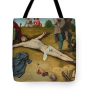Christ Nailed To The Cross Tote Bag