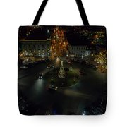 Christmas Lights, Looking West Tote Bag