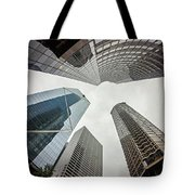 Cloudy And Rainy Day In Seattle Washington Tote Bag