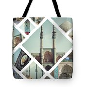 Collage Of Iran Images  Tote Bag