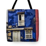 Colonial Buildings In Old Cartagena Colombia Tote Bag