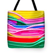 Colorful Plastic Tote Bag