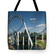 Cork-screw Rollercoaster And Ferris-wheel Tote Bag