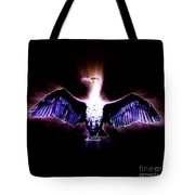 Cormorant Dries Its Wings Tote Bag