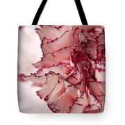 Creamy White With Red Picotee Carnation Tote Bag