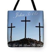 3 Crosses Tote Bag