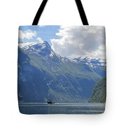 Cruise In Geiranger Fjord Norway Tote Bag