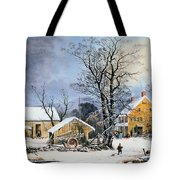 Currier & Ives Winter Scene Tote Bag