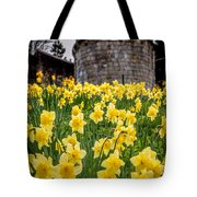 Daffodils And Bar Walls, York, Uk. Tote Bag